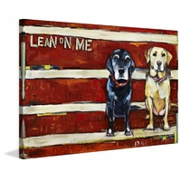 Lean on Me Canvas Wall Art