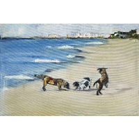 Dogs' Play Canvas Wall Art