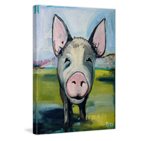 Hog Heaven Canvas Wall Art