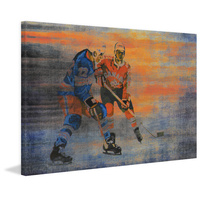 USA vs. CAN Canvas Wall Art