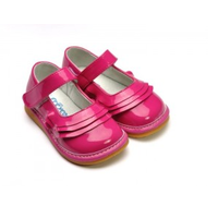 MJ Bubblegum pink girl leather shoes