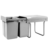 Cefito 2x20L Pull Out Bin - Grey