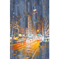 City Lights Canvas Wall Art