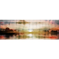 Painted Sunset Canvas Wall Art