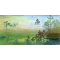 Misty Pine Forest Canvas Wall Art