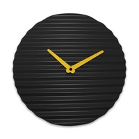 WaveCLOCK Black (yellow minute hand)
