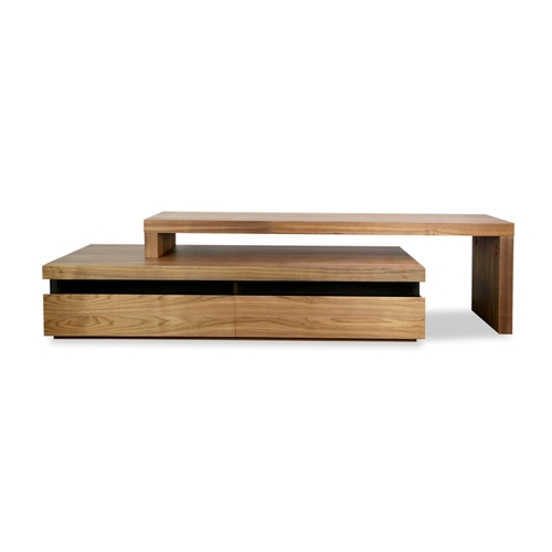 Maze lowline TV unit - walnut