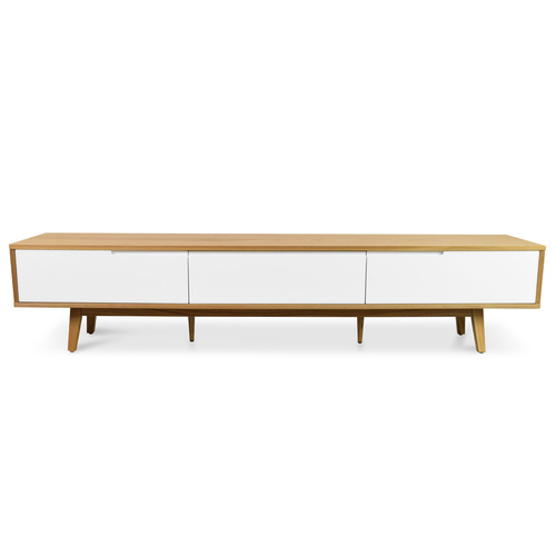 Marc 2.1m Scandinavian Entertainment TV Unit – Natural