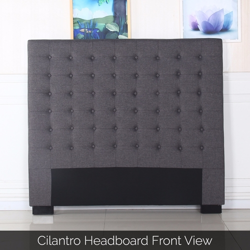 Cilantro Double Charcoal Headboard