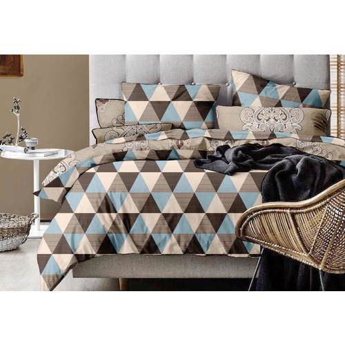 Queen Size Chevron Geo Quilt Cover Set (3PCS)