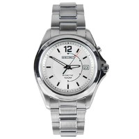 Seiko Kinetic Men's Silver Dial Stainless Steel Watch SKA475P1