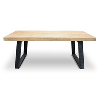 Edwin 1.98cm Industrial Rustic Reclaimed Dining Table.