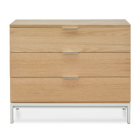 Hampton 3 drawer Chest - Oak
