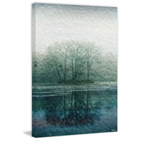 Apple Lake Canvas Wall Art
