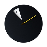 FreakishCLOCK - Black (yellow minute hand)
